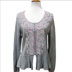 Anthropologie Guinevere peplum sweater